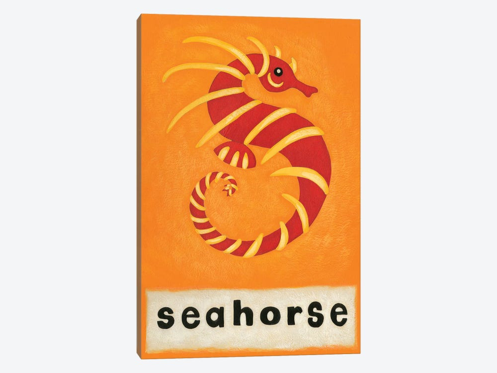 S Is For Seahorse by Chariklia Zarris 1-piece Canvas Wall Art