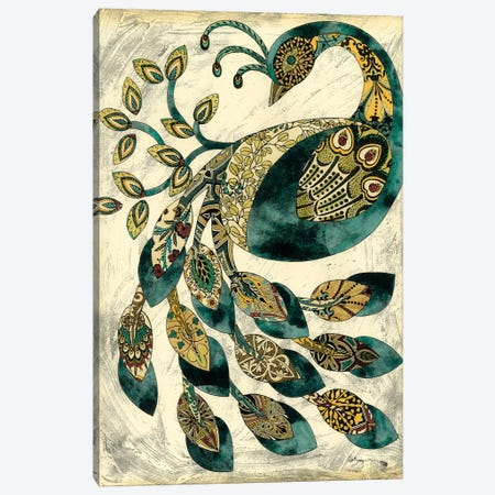Royal Peacock II Canvas Print #ZAR8} by Chariklia Zarris Canvas Wall Art