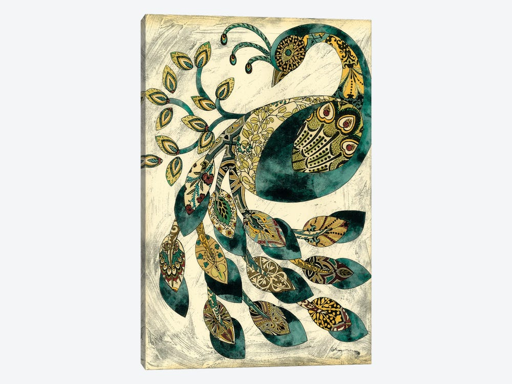 Royal Peacock II by Chariklia Zarris 1-piece Canvas Art Print