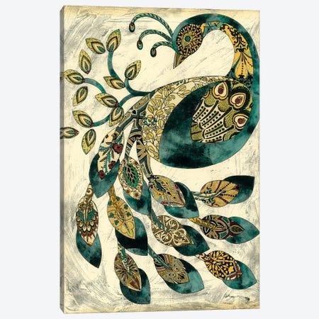 Royal Peacock II 3-Piece Canvas #ZAR8} by Chariklia Zarris Canvas Wall Art