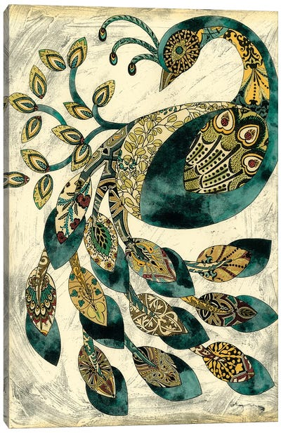 Royal Peacock II Canvas Art Print