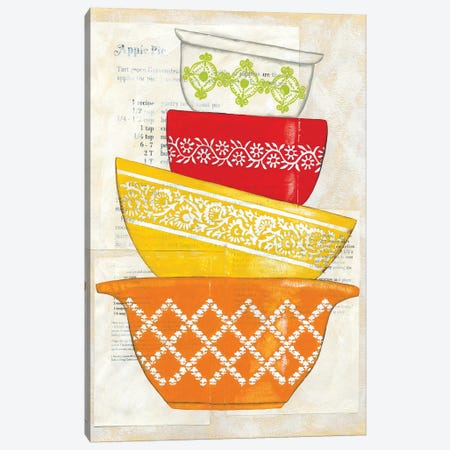 Retro Ware II Canvas Print #ZAR92} by Chariklia Zarris Canvas Artwork