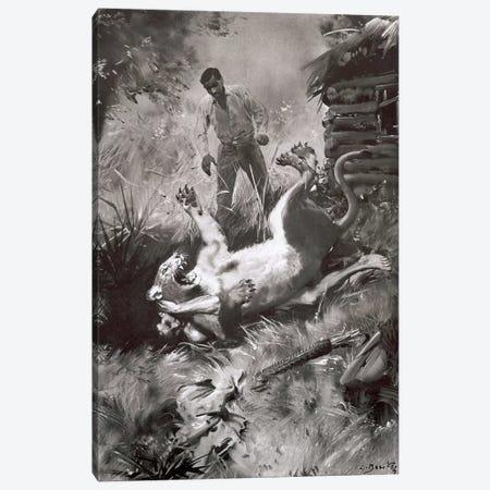 Tarzan of the Apes, Chapter XV Canvas Print #ZDB10} by Zdeněk Burian Canvas Wall Art