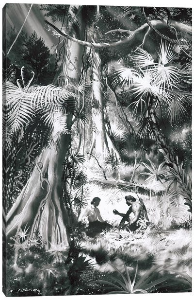 Tarzan of the Apes, Chapter XX Canvas Art Print