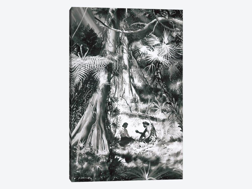 Tarzan of the Apes, Chapter XX by Zdeněk Burian 1-piece Canvas Print