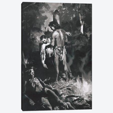 Tarzan of the Apes, Chapter XXI Canvas Print #ZDB12} by Zdeněk Burian Canvas Artwork