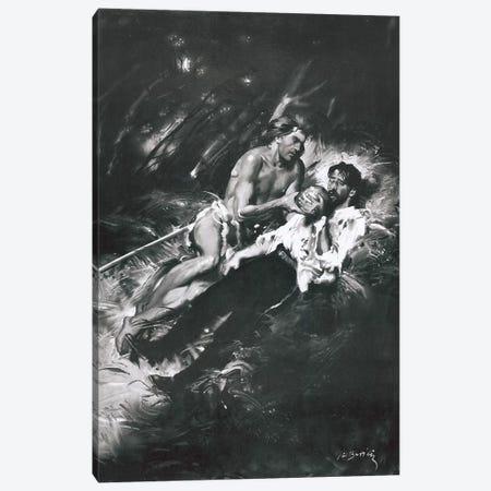 Tarzan of the Apes, Chapter XXIII Canvas Print #ZDB13} by Zdeněk Burian Canvas Wall Art