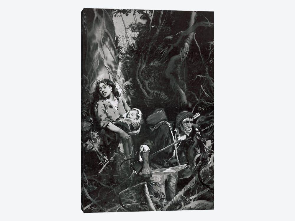 The Beasts of Tarzan, Chapter XII by Zdeněk Burian 1-piece Canvas Art Print