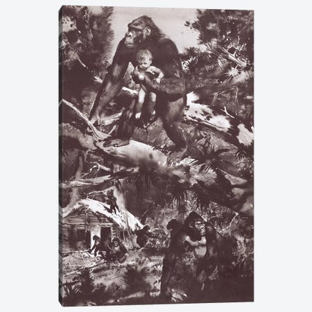 Tarzan of the Apes, Chapter IV Canvas Print #ZDB1} by Zdeněk Burian Canvas Wall Art