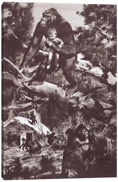 Tarzan of the Apes, Chapter IV Canvas Art Print