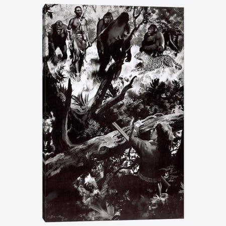 The Beasts of Tarzan, Chapter XIV Canvas Print #ZDB21} by Zdeněk Burian Canvas Art Print
