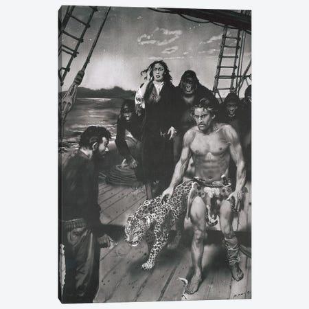 The Beasts of Tarzan, Chapter XVII Canvas Print #ZDB23} by Zdeněk Burian Canvas Art Print