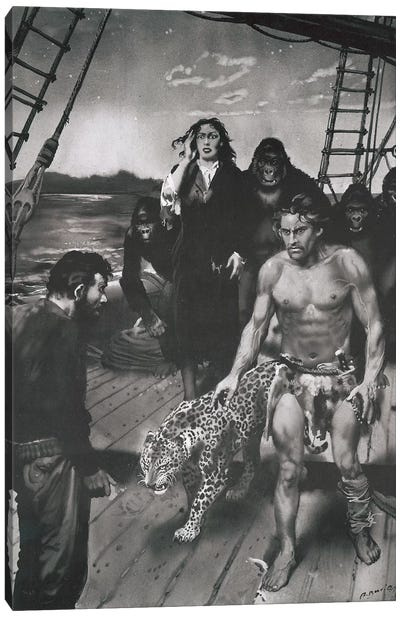 The Beasts of Tarzan, Chapter XVII Canvas Art Print