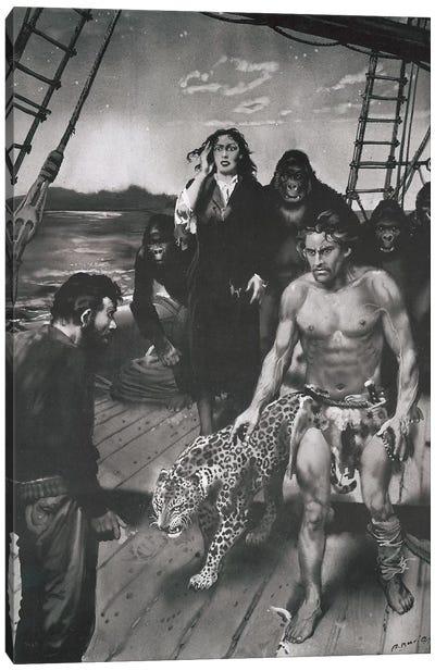 The Beasts of Tarzan, Chapter XVII Canvas Art Print