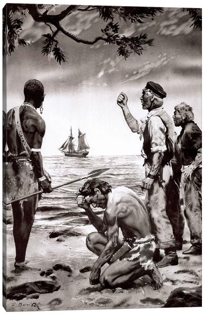 The Beasts of Tarzan, Chapter XXI (part 1) Canvas Art Print