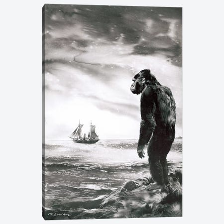 The Beasts of Tarzan, Chapter XXI (part 2) Canvas Print #ZDB25} by Zdeněk Burian Canvas Artwork