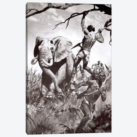 The Return of Tarzan, Chapter XV Canvas Print #ZDB26} by Zdeněk Burian Canvas Wall Art