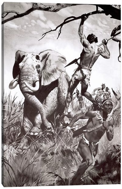 The Return of Tarzan, Chapter XV Canvas Art Print