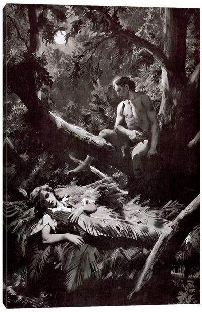 The Return of Tarzan, Chapter XXV Canvas Art Print