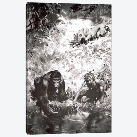 Tarzan of the Apes, Chapter V Canvas Print #ZDB2} by Zdeněk Burian Canvas Wall Art
