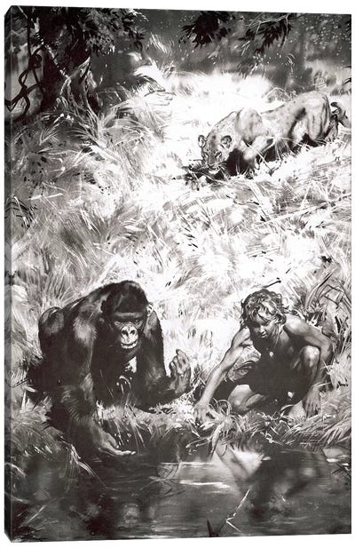 Tarzan of the Apes, Chapter V Canvas Art Print