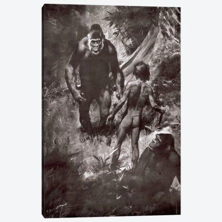 Tarzan of the Apes, Chapter VII Canvas Print #ZDB3} by Zdeněk Burian Canvas Wall Art