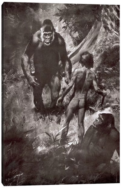 Tarzan of the Apes, Chapter VII Canvas Art Print