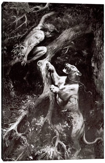 Tarzan of the Apes, Chapter VIII Canvas Art Print