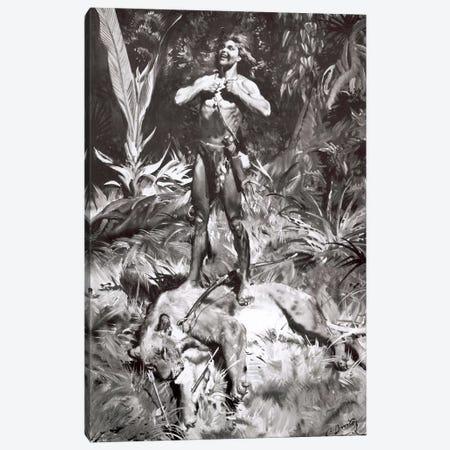 Tarzan of the Apes, Chapter XI Canvas Print #ZDB6} by Zdeněk Burian Art Print