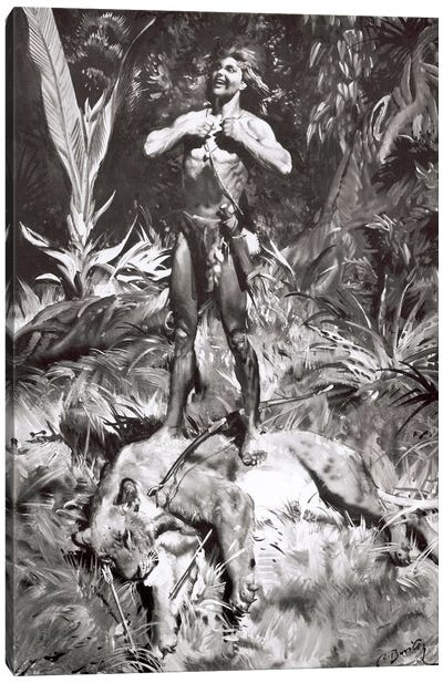 Tarzan of the Apes, Chapter XI Canvas Art Print