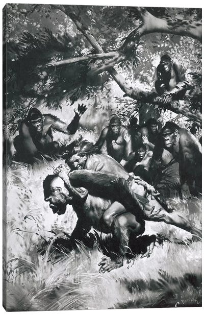Tarzan of the Apes, Chapter XII Canvas Art Print