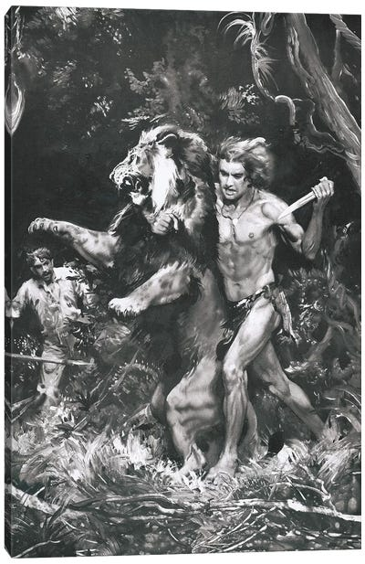 Tarzan of the Apes, Chapter XIV Canvas Art Print