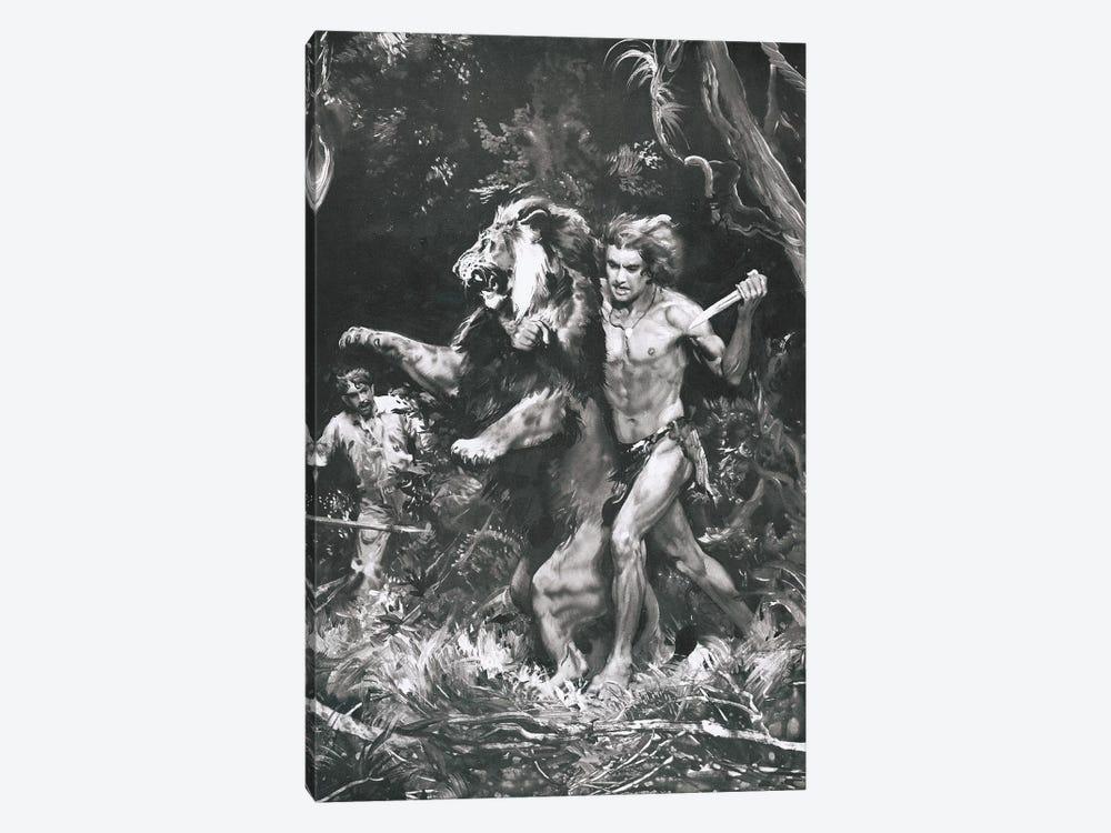Tarzan of the Apes, Chapter XIV by Zdeněk Burian 1-piece Canvas Print