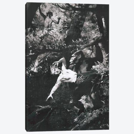 Tarzan of the Apes, Chapter XIX Canvas Print #ZDB9} by Zdeněk Burian Canvas Wall Art