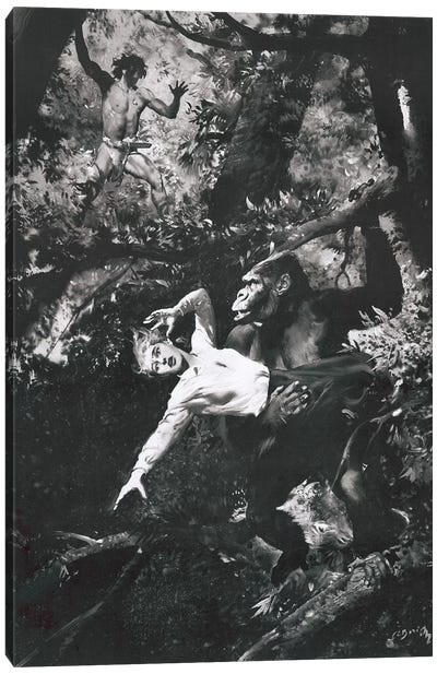 Tarzan of the Apes, Chapter XIX Canvas Art Print