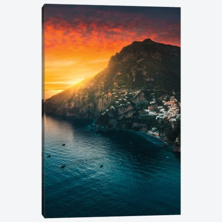 Positano Paradiso Canvas Print #ZDO12} by Zach Doehler Canvas Art Print