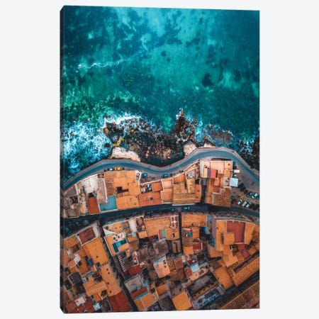 Seaside In Sicily Canvas Print #ZDO16} by Zach Doehler Canvas Wall Art