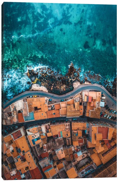 Seaside In Sicily Canvas Art Print