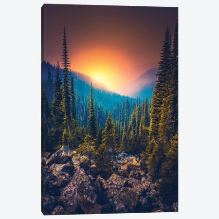 Smokey Layers Canvas Print #ZDO17} by Zach Doehler Canvas Art