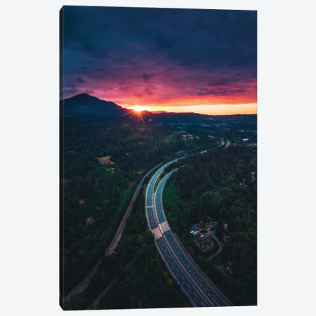The Island Highway 3-Piece Canvas #ZDO24} by Zach Doehler Canvas Art Print
