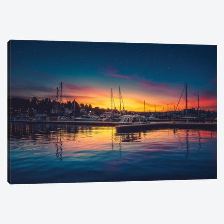 Twilight Harbour Canvas Print #ZDO29} by Zach Doehler Canvas Art