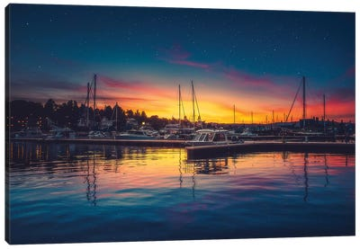 Twilight Harbour Canvas Art Print