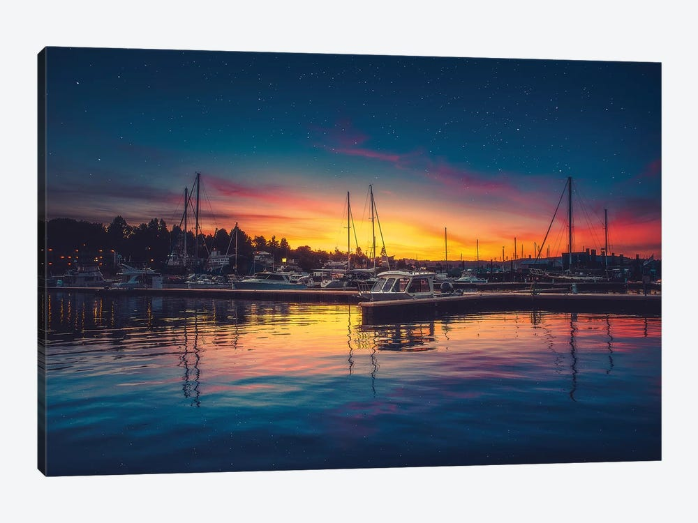 Twilight Harbour by Zach Doehler 1-piece Canvas Print