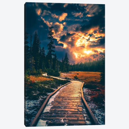 Moody Alpine Skies Canvas Print #ZDO2} by Zach Doehler Canvas Print