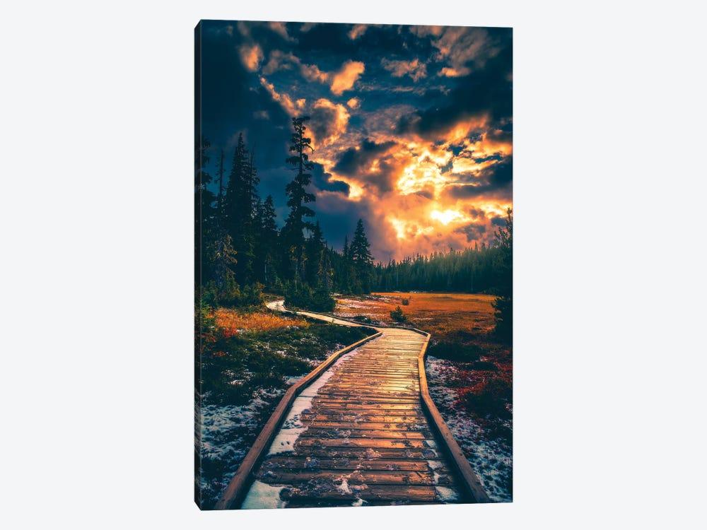 Moody Alpine Skies by Zach Doehler 1-piece Canvas Wall Art