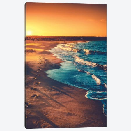 Walks Along The Shoreline 3-Piece Canvas #ZDO30} by Zach Doehler Art Print