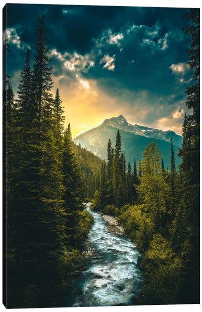Where The River Flows Canvas Art Print