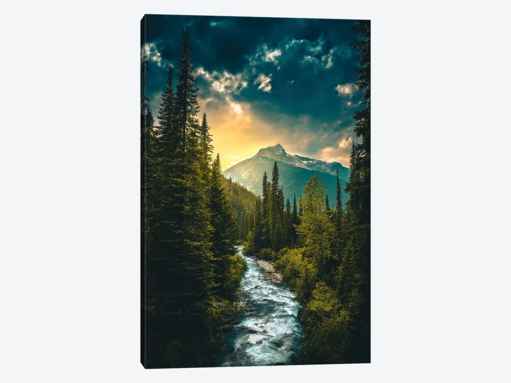 Where The River Flows by Zach Doehler 1-piece Canvas Wall Art