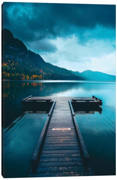 A Peaceful Afternoon On The Dock Canvas Art Print