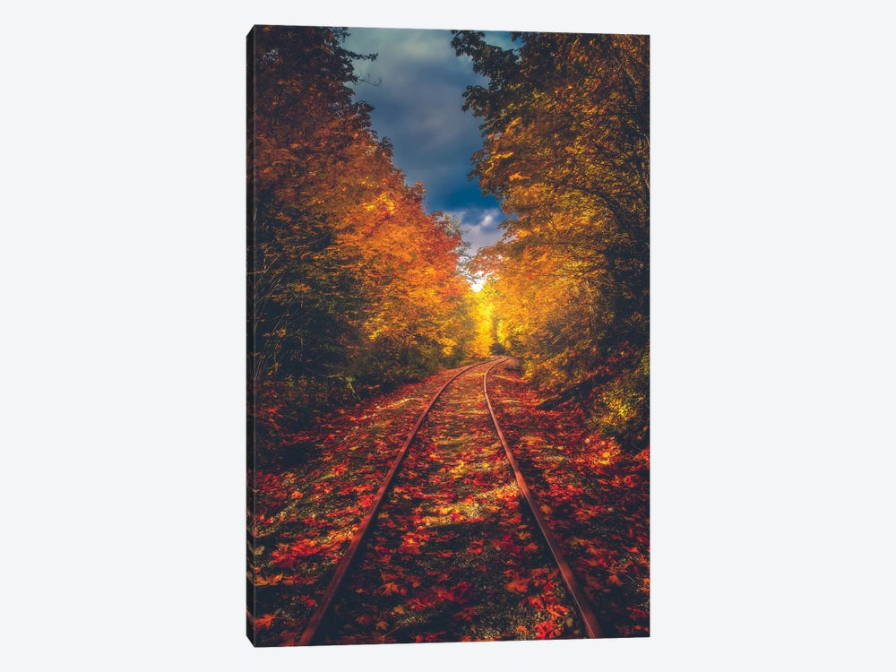 Autumn On The Railroad by Zach Doehler 1-piece Canvas Art
